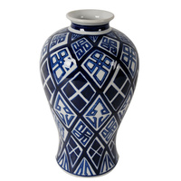 Li Ling Ceramic Lidded Jar BLUE WHITE
