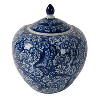 Blossom Ginger Jar  BLUE WHITE