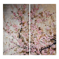 Pink Blossom Wall Art FRAMED (Matching Set of 2) 36903