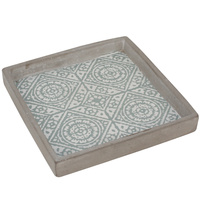 HP0458 Mustique Square Tray 20x20x3cmhBoxed in 6's