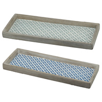Antique Mustique Cement Tray Set