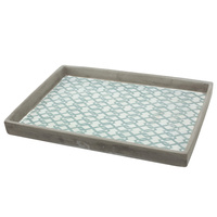 HP0457 Mustique Seafoam Tray 32x22x3cmhBoxed in 3's