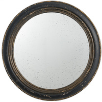 Black & Gold Round framed Mirror 32263-BLAC