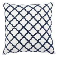 Quatrefoil large Cushion 60% feather 50x50 T38613