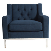 Montgomery Arm Chair  French Navy
