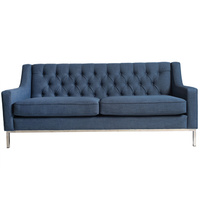 Montgomery Sofa Denim Colour Look