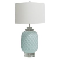 Island hand made ceramic Crystal Table Lamp