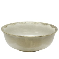 Blanc Crazed Ceramic  Bowl
