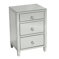 Glamour Bedside  3Drawers