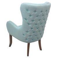 Thomas Armchair Duck Egg  Linen look Button back