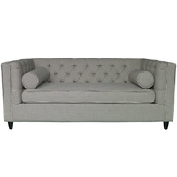Ascot 2 Seater Sofa with bollards (stylish distinctive Hounds tooth Upholstery)