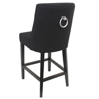 Ophelia Breakfast Chair Black  Linen ring back