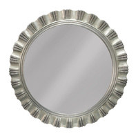 Brisbane Silver Leaf Decorator Wood Framed Mirror Bevelled Mirror Round Wall Mirror