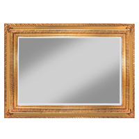 Zappini Gold & Gold Leaf Decorator Wood Framed Mirror Bevelled Mirror