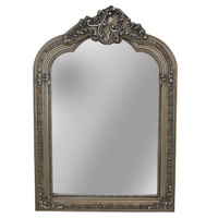 Appel Antique Silver Leaf Decorator Wood Framed Mirror Bevelled Mirror   over mantle