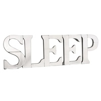 Mirrored Sleep Word Art Wall Decor
