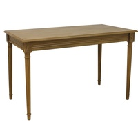 Esther Natural Console table/small writing desk, hand carved one drawer