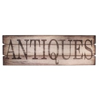 Wood Sign Antiques 122X3X40cmh