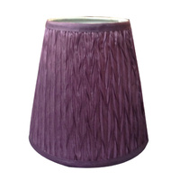 22010SH Purple Sml Crinkled Pleat Shade with teardrop bulb fitting 10x17x17cmh