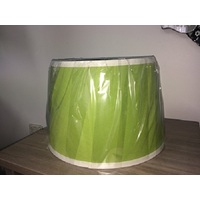 Apple Green Tapered Shade with White Trim