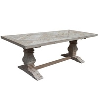 Parquet Dining Table Queen Reclaimed Pine