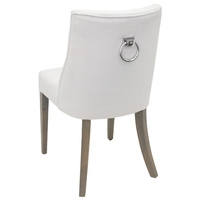 Ophelia Dining Chair White chrome ring