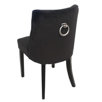Ophelia Black Velvet Dining Chair