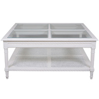 Polo Square Coffee Table White Flat Packed
