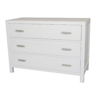 Catalina Crossed White Chest of Drawers