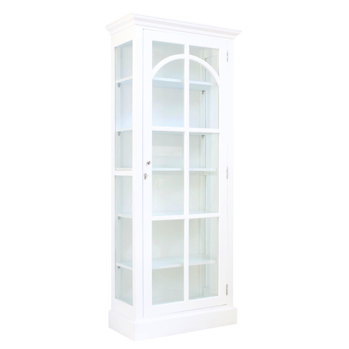 St Germaine Display Case White (reclaimed timber hand painted - available to view in our showroom)